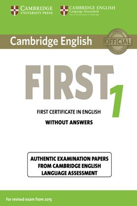 Εικόνα της CAMBRIDGE FIRST CERTIFICATE IN ENGLISH 1 SB WO/A N/E