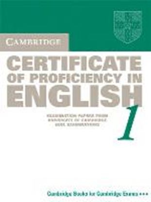 Εικόνα της CAMBRIDGE CERTIFICATE OF PROFICIENCY IN ENGLISH 1 SB WO/A @ UPDA TED