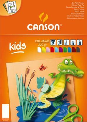 Εικόνα της ΜΠΛΟΚ CANSON COLORLINE 25x35 220gr 10Φ KIDS