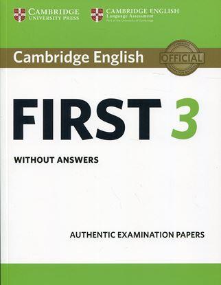 Εικόνα της CAMBRIDGE ENGLISH FIRST 3 SB WO/A