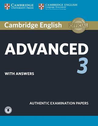Εικόνα της CAMBRIDGE ENGLISH ADVANCED 3 SB W/A