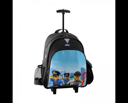 Εικόνα της ΤΣΑΝΤΑ ΔΗΜΟΤΙΚΟΥ ΤΡΟΛΕΪ LEGO BAG CITY POLICE CHOPPER