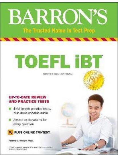 Εικόνα από BARRON'S TOEFL iBT (+ Online Tests) (+ DOWNLOADABLE AUDIO) 16TH ED