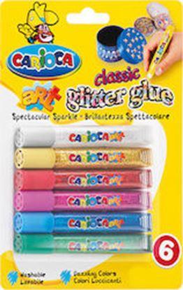 Εικόνα της CARIOCA GLITTER GLUE SET 6 COLORS
