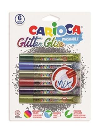 Εικόνα της ΚΟΛΛΑ CARIOCA 42112 MIX GLIT.GLUE/6 10,5ml CN