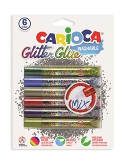 Εικόνα από ΚΟΛΛΑ CARIOCA 42112 MIX GLIT.GLUE/6 10,5ml CN