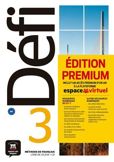 Εικόνα από Defi 3, Livre de l'eleve + CD Premium