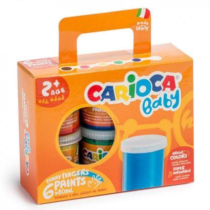 Εικόνα της Δακτυλομπογές Carioca baby 6τεμ 80ml. KO032