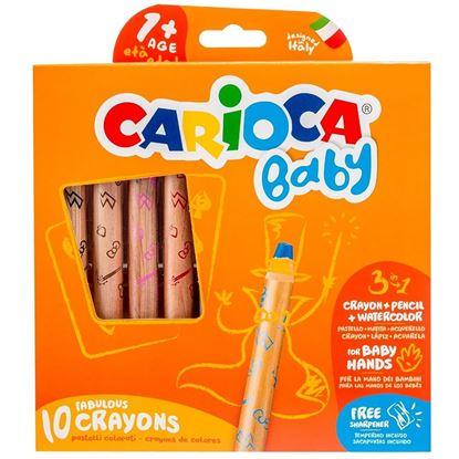 Εικόνα της Ξυλομπογιές Carioca baby crayons 10+1τεμ 42818