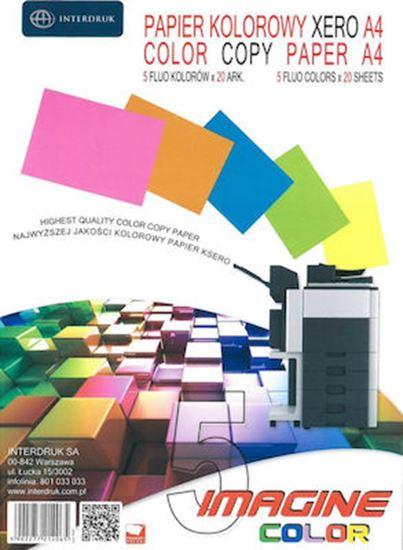 Εικόνα από ΧΑΡΤΙ INTERDRUK 5 Χρώματα 80gr/m² A4 100 φύλλα
